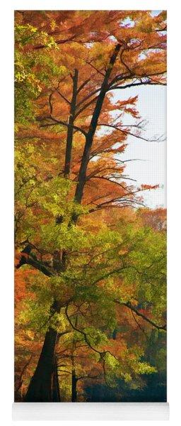 Rustic Autumn Yoga Mat