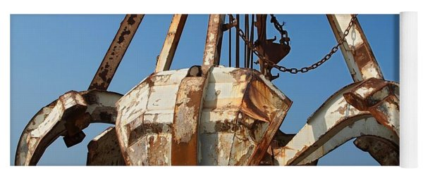 Rusty Obsolete Dredging Equipment Yoga Mat