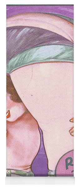 Ruth The Acrobat Circus Poster Yoga Mat