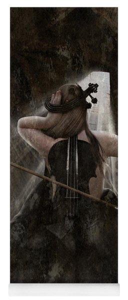 Sad Violin Yoga Mat