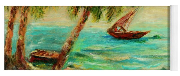 Sail Boats On Indian Ocean  Yoga Mat