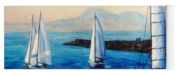 Sailboats Yoga Mat