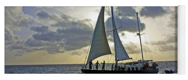 Sailing In Aruba Yoga Mat