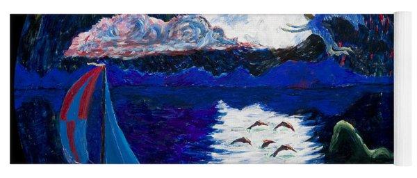 Sailing In The Moonlight Yoga Mat