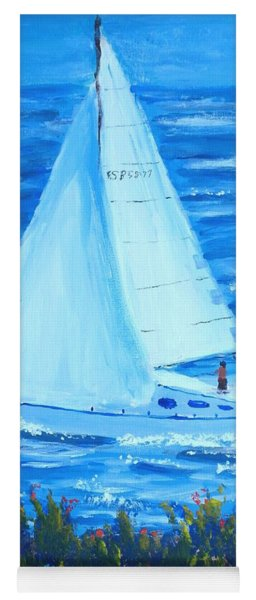 Sailing Off The Coast Yoga Mat