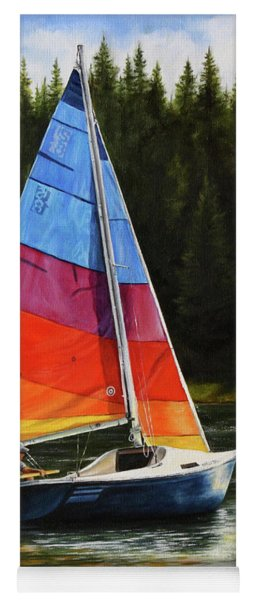 Sailing On Flathead Yoga Mat