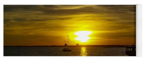 Sailing The Sunset Yoga Mat