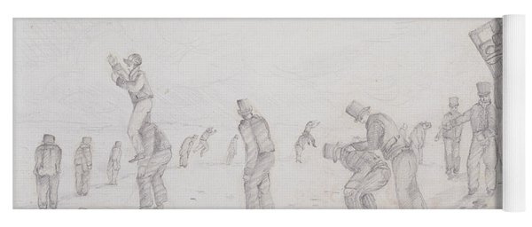 Sailors Playing At Leap Frog, From Sketches Of The Second Parry Arctic Expedition, 1821-2 Graphite Yoga Mat