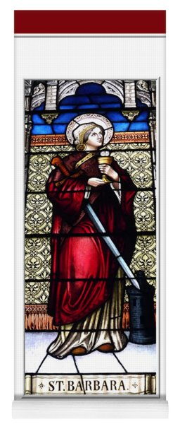 Saint Barbara Stained Glass Window Yoga Mat