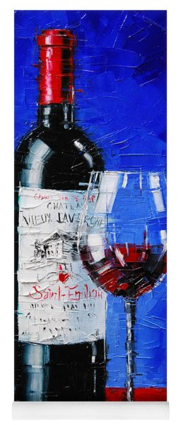Still Life With Wine Bottle And Glass II Yoga Mat