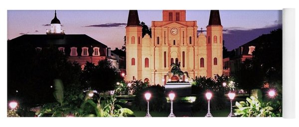 Saint Louis Cathedral New Orleans Yoga Mat