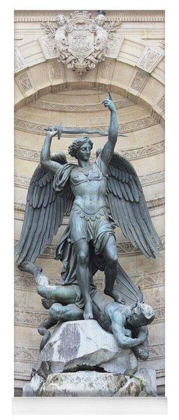 Saint Michael The Archangel In Paris Yoga Mat