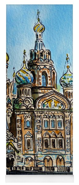 Saint Petersburg Russia The Church Of Our Savior On The Spilled Blood Yoga Mat