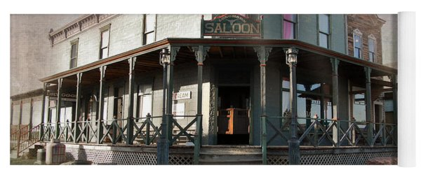 Yoga Mat featuring the photograph Saloon by Judy Hall-Folde