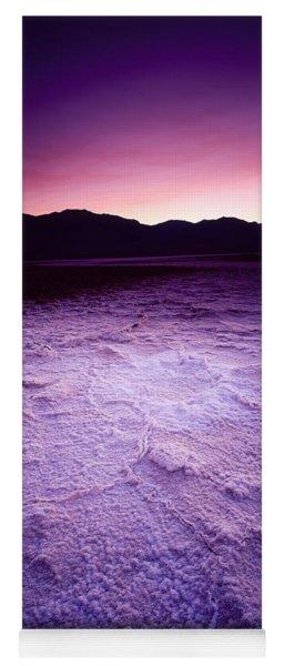 Salt Flat At Sunset, Death Valley Yoga Mat