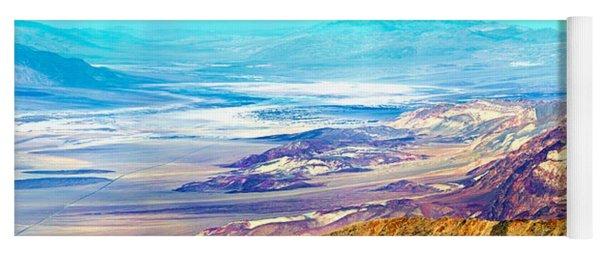 Salt Flats Viewed From Dantes View Yoga Mat