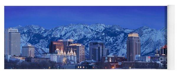 Salt Lake City Skyline Yoga Mat