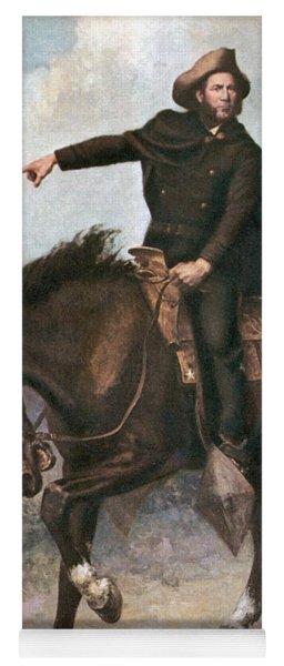 Sam Houston At Battle Of San Jacinto Yoga Mat