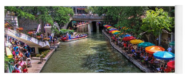 San Antonio Riverwalk Yoga Mat