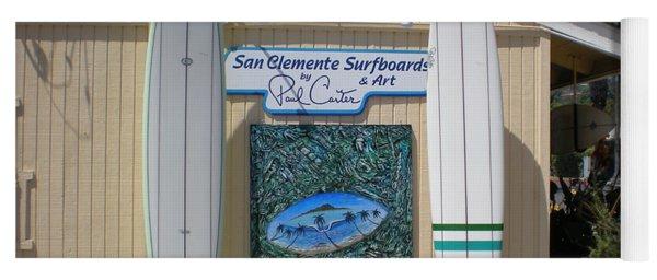 San Clemente Surfboards Yoga Mat