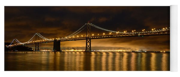 San Francisco - Bay Bridge At Night Yoga Mat