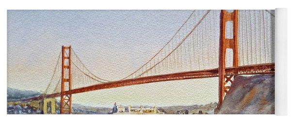 San Francisco California Golden Gate Bridge Yoga Mat