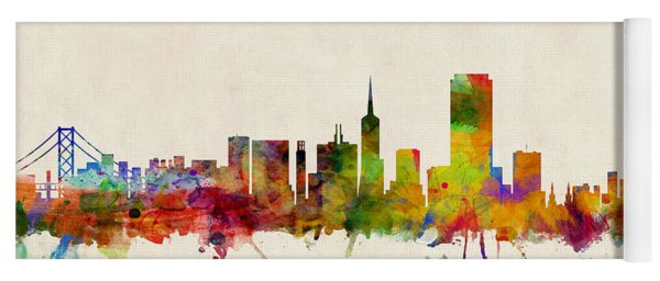 San Francisco City Skyline Yoga Mat