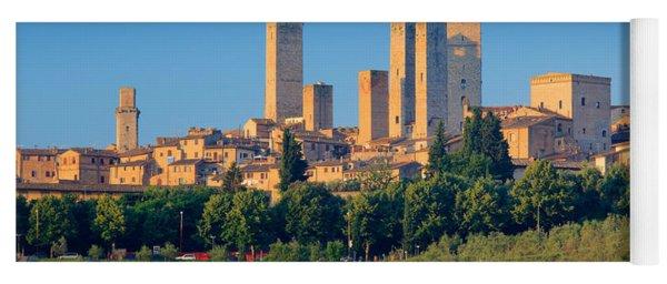 San Gimignano Skyline Yoga Mat