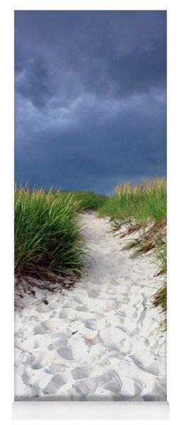 Sand Dune Under Storm Yoga Mat