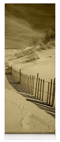Sand Dunes And Fence Yoga Mat
