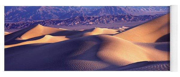 Sand Dunes In A Desert, Death Valley Yoga Mat