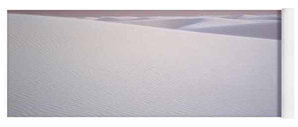 Sand Dunes Of Gypsum In The Morning Yoga Mat