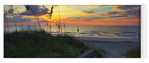 Sand Dunes On The Seashore At Sunrise - Carolina Beach Nc Yoga Mat