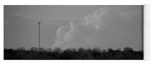 Sand Hill Cranes With Nebraska Thunderstorm Yoga Mat