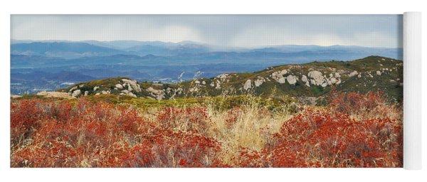 Sandstone Peak Fall Landscape Yoga Mat