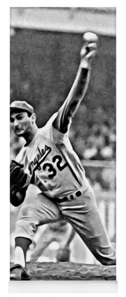 Sandy Koufax Throwing The Ball Yoga Mat