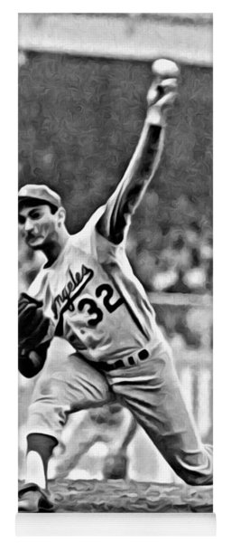 Sandy Koufax Throwing The Ball Yoga Mat