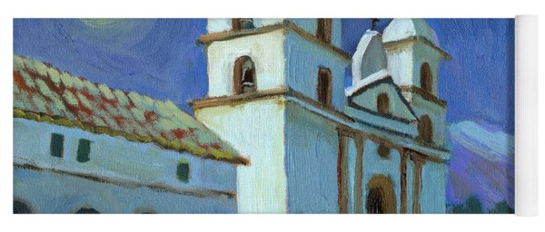 Santa Barbara Mission Moonlight Yoga Mat