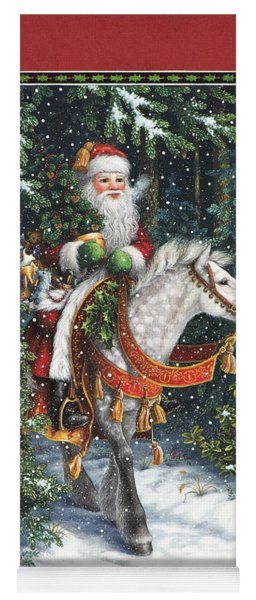 Santa Of The Northern Forest Yoga Mat