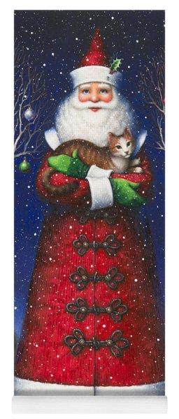 Santa's Cat Yoga Mat