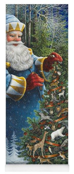 Santa's Christmas Tree Yoga Mat