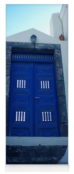 Santorini Door  To Heaven  Yoga Mat