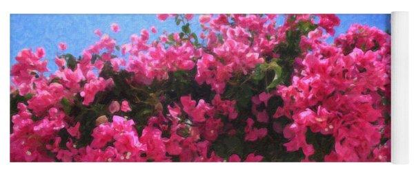 Santorini Flowers Grk1113 Yoga Mat