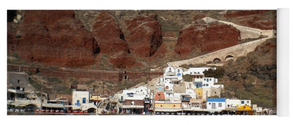 Santorini  Island  View To Oia Greece Yoga Mat