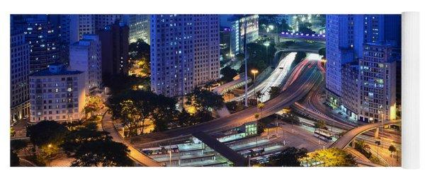 Sao Paulo Skyline - Downtown Yoga Mat