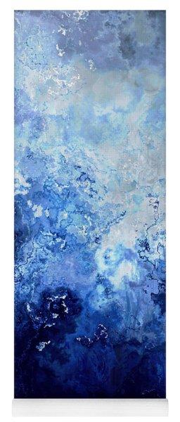 Sapphire Dream - Abstract Art Yoga Mat