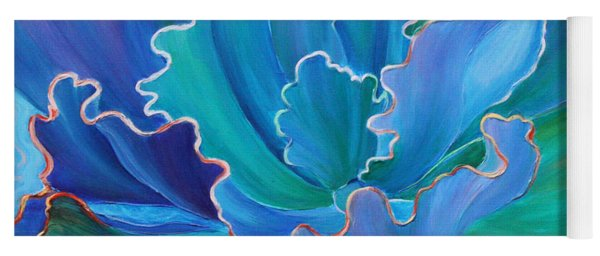 Yoga Mat featuring the painting Sapphire Solitaire by Sandi Whetzel