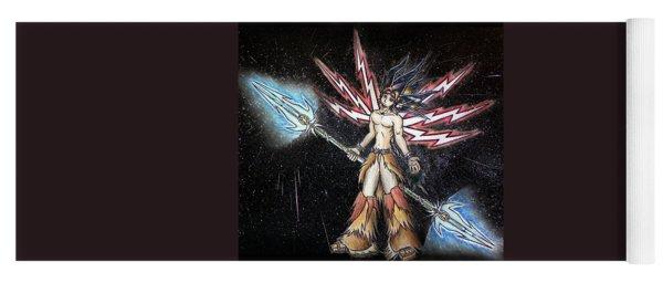 Satari God Of War And Battles Yoga Mat