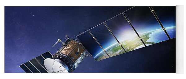 Satellite Communications With Earth Yoga Mat