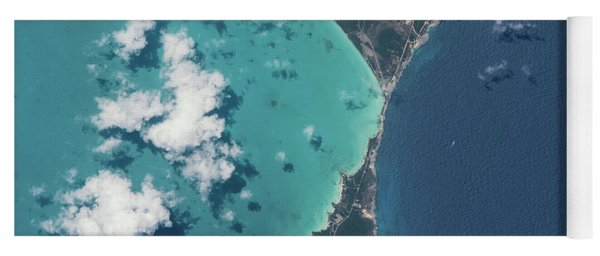 Satellite View Of North Eleuthera Yoga Mat